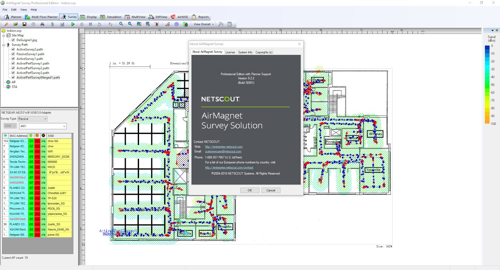 ekahau site survey documentation