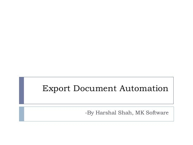 export documentation software india