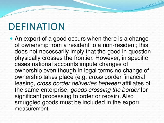 export import procedures and documentation ppt