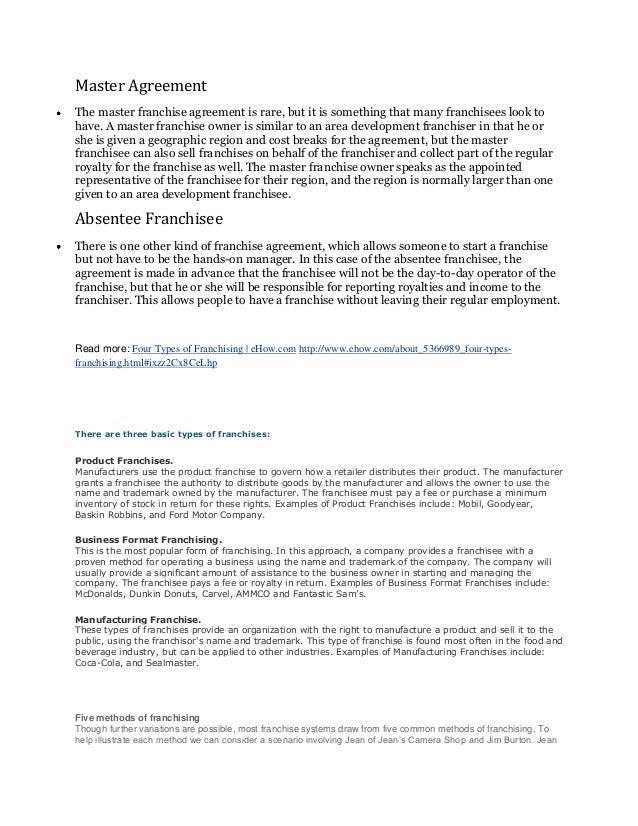 franchise disclosure document template free