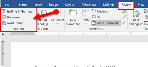 how to get word count in microsoft word document