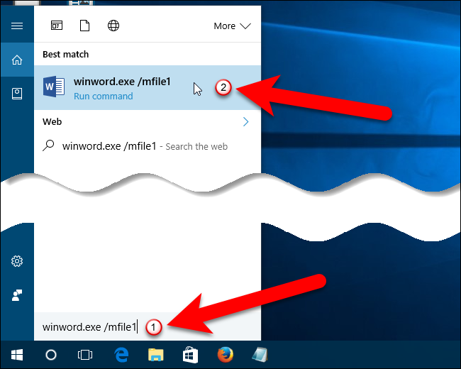 how to open the most recent word document