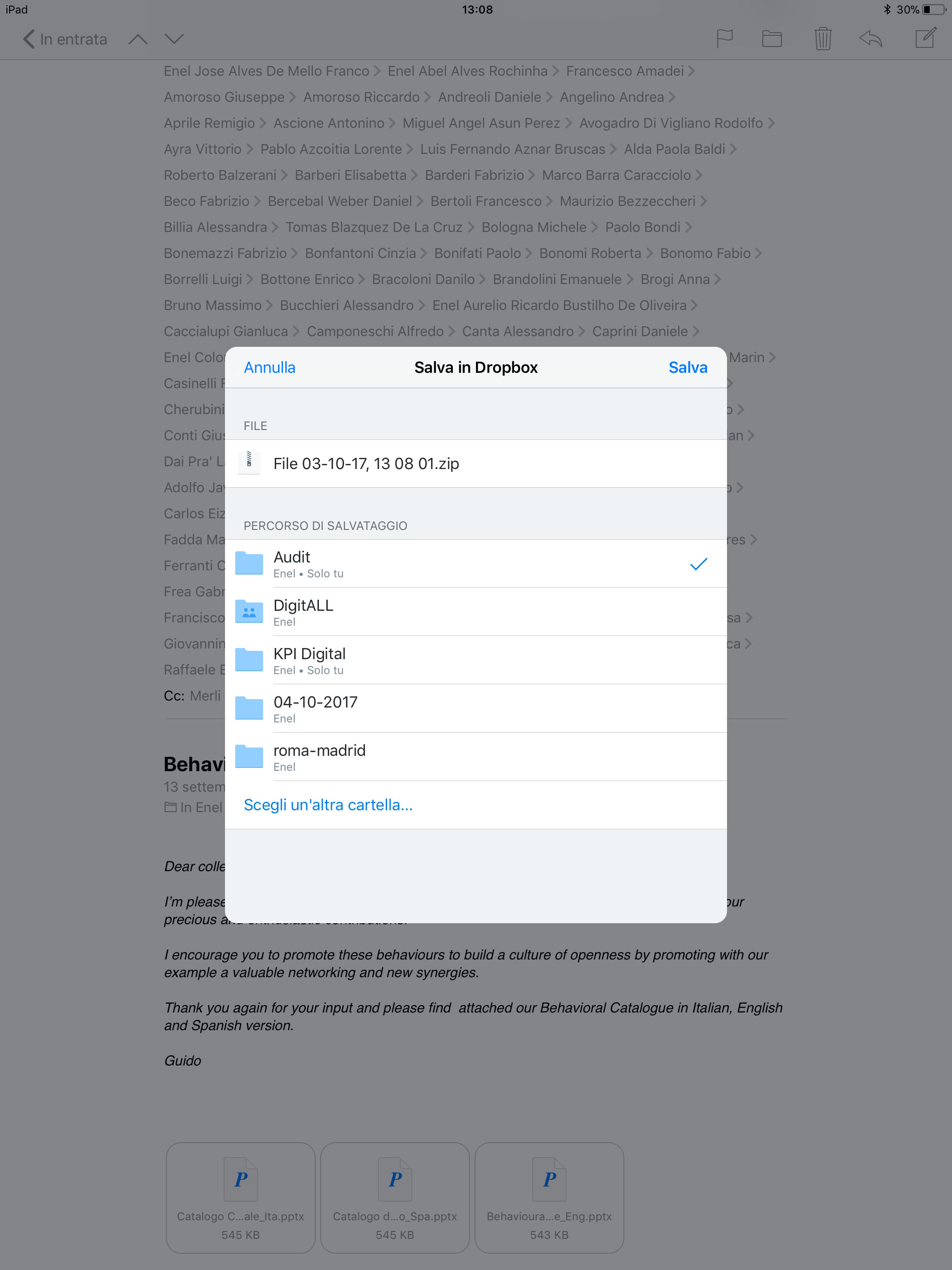 how to save a document in pages on ipad