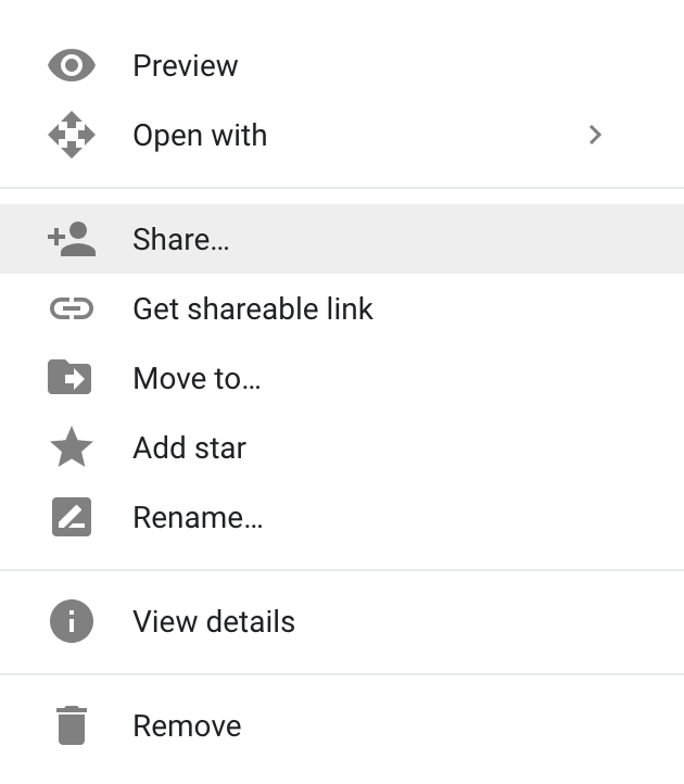 how to unshare a google document