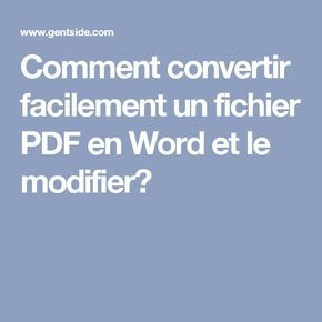 modifier un document pdf en format word