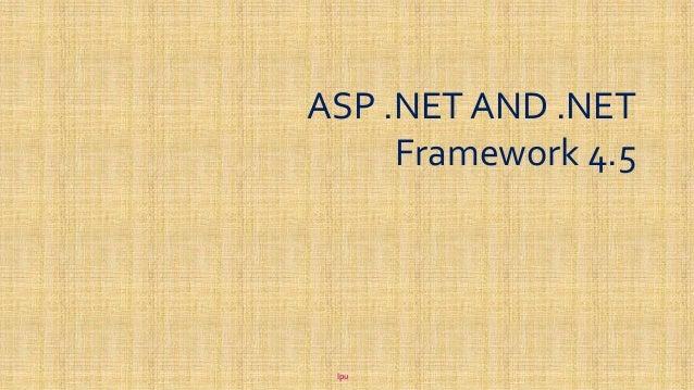 net framework 4.5 documentation