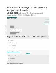 nursing abdominal assessment documentation