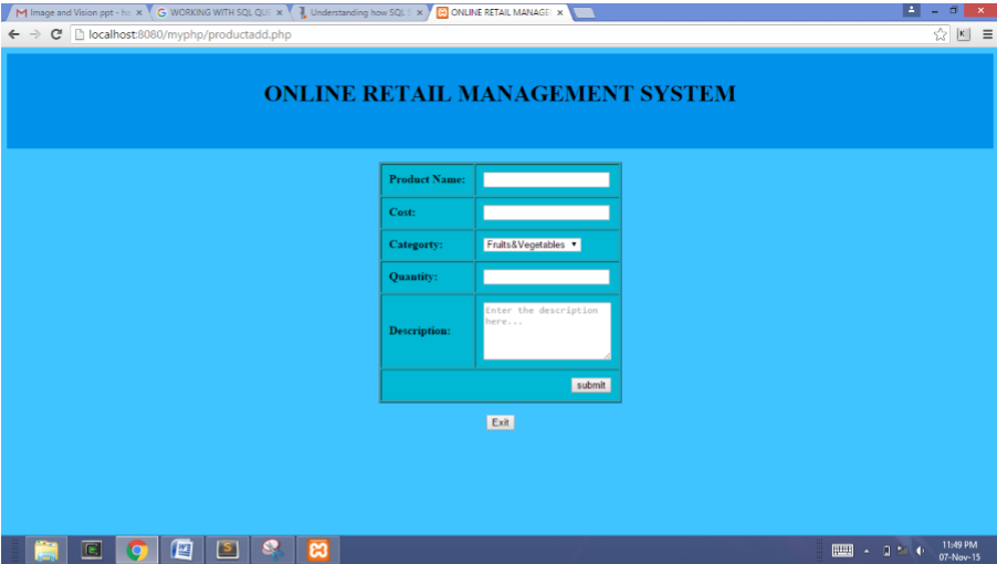 online shopping project in php with documentation