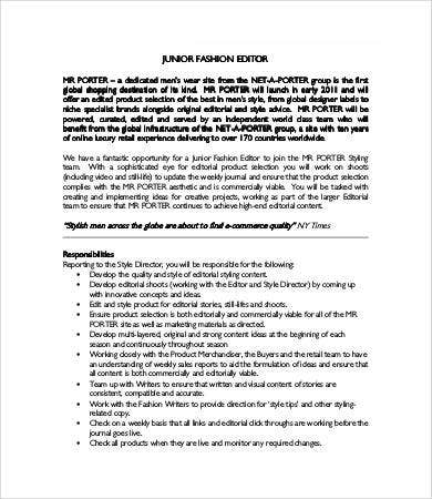 pcis+ job description documentation