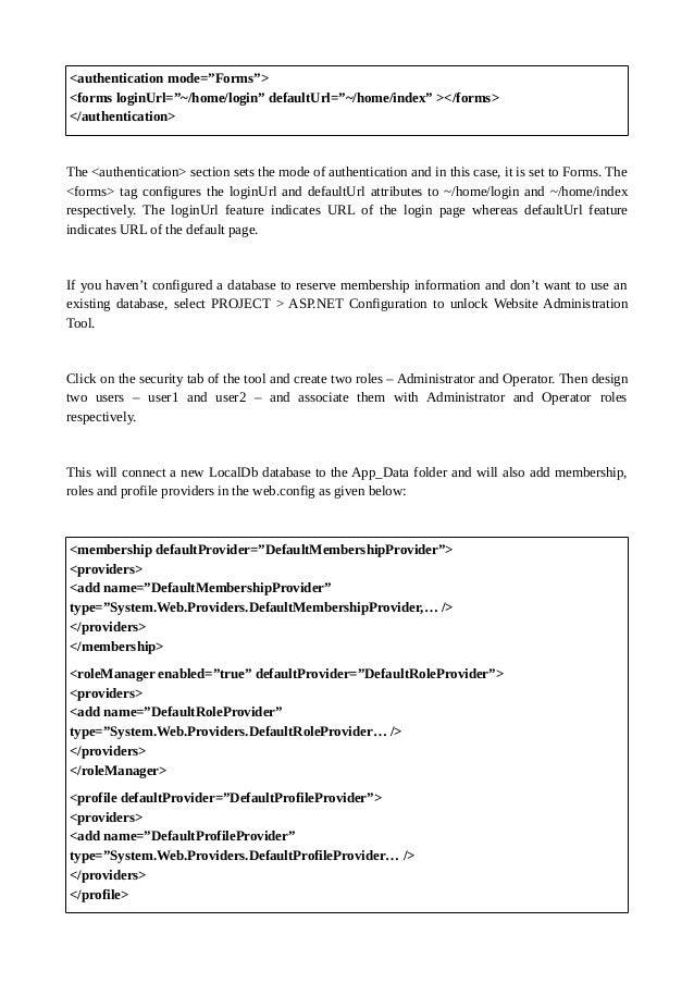 set default document in web.config mvc