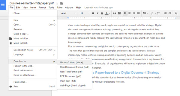 sharing a word document for editing