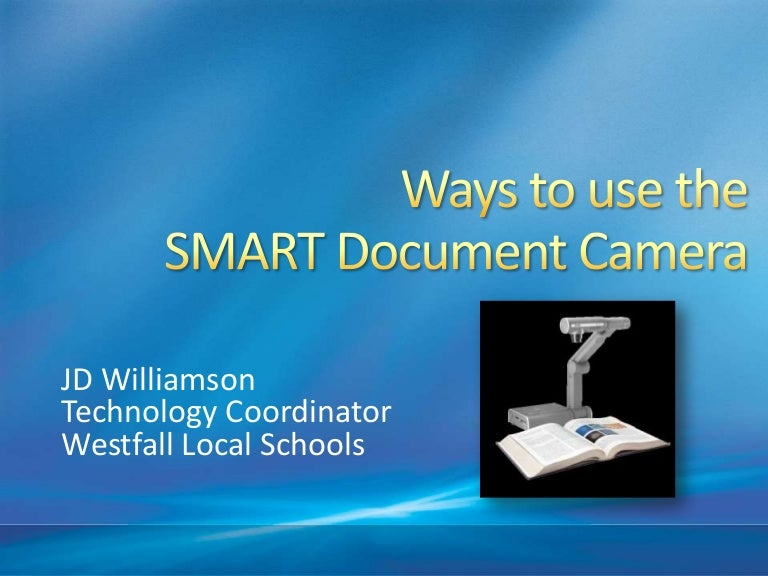smart document camera in use in notebook