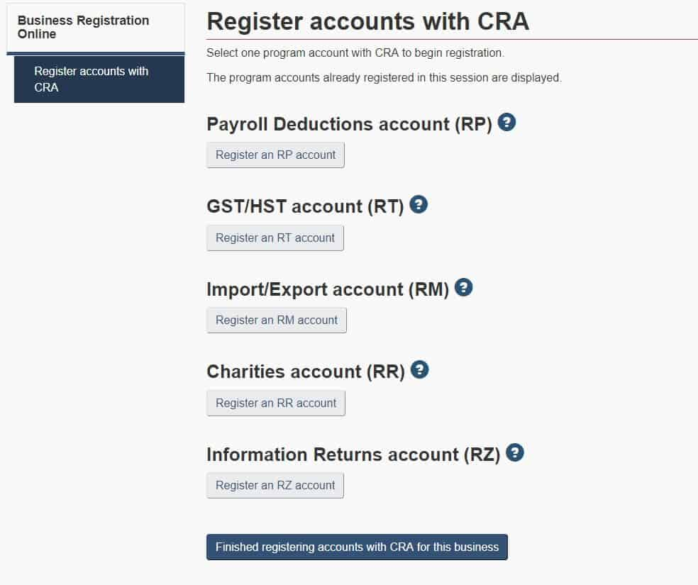 submitting a document cra with out account
