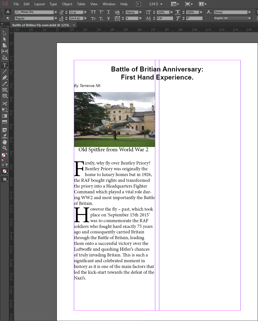 transfer word document to indesign