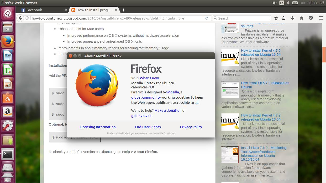 what is firefox html document