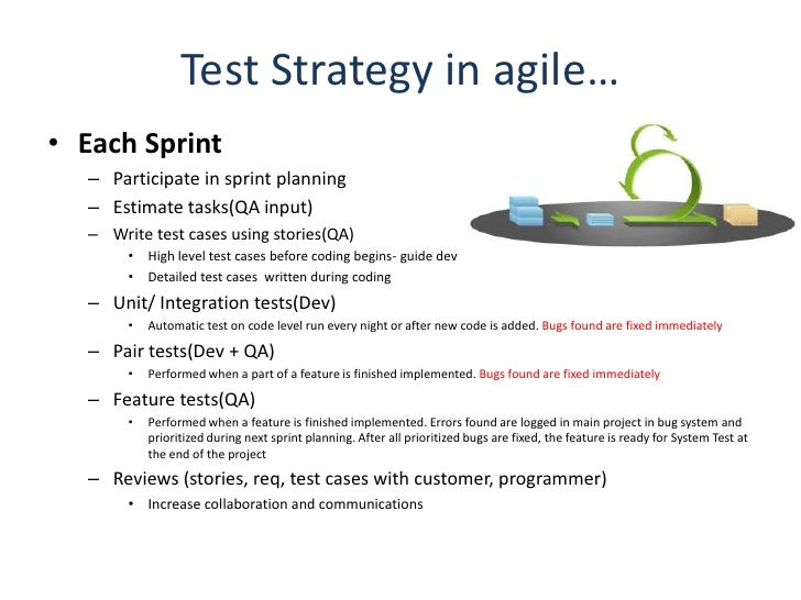 what is test strategy document what it contain